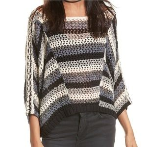 Free People Pearl Searching linen blend sweater S